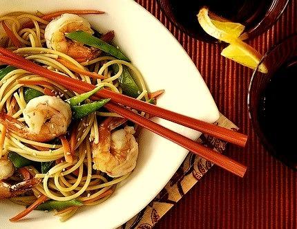 Noodle Stir Fry with Shrimp