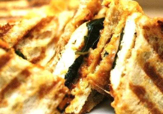 Parmesan chicken panini