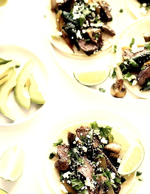 Steak, Poblano and Mushroom Tacos Gimme Some Oven