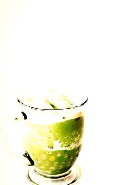 Matcha Green Tea Slushie with BobaSource